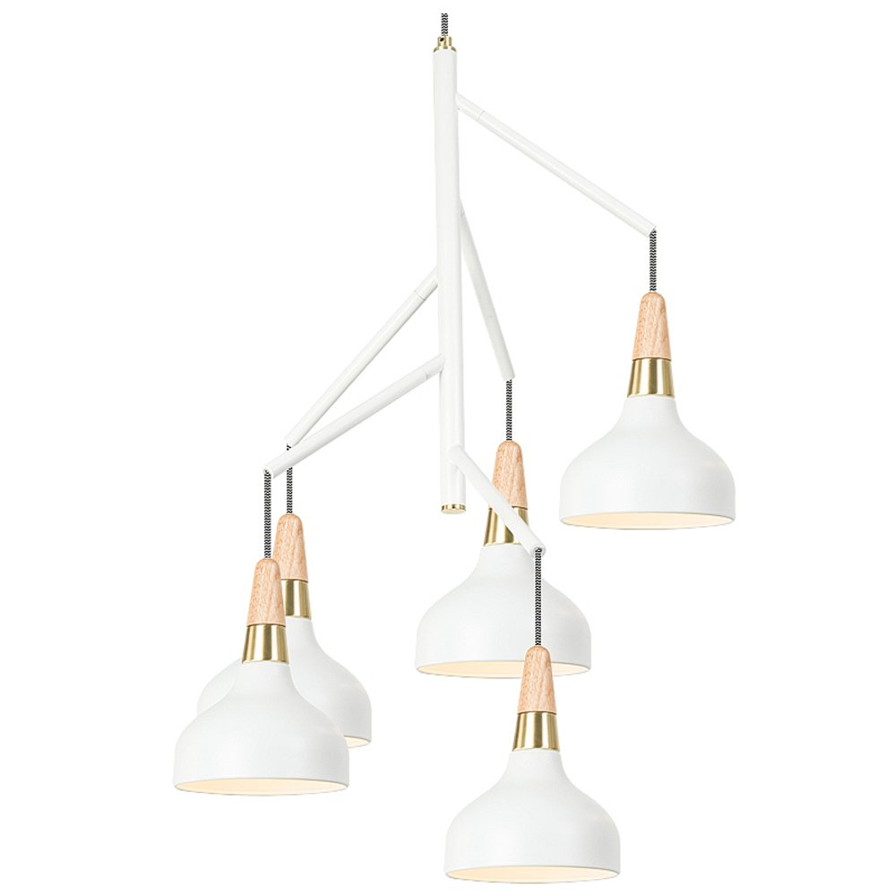 MGCHD Chandelier, Nordic modern Simple Single head restaurant/ living room/ dining table/ bar/ Bar / Lamps, 61 78cm A+ ( Color : White )
