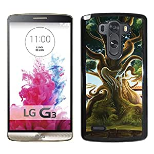 Beautiful And Unique Designed With Tree House Water Bubbles Grass Nature For LG G3 Phone Case