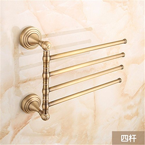 HOMEE European Style All Copper Movable Towel Bar Towel Rack,B by HOMEE