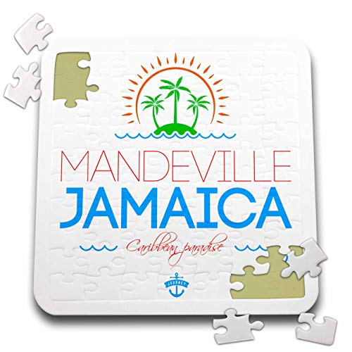 3dRose Alexis Design - Cities Jamaica - Mandeville, Jamaica City. Summer Journey and Fun - 10x10 Inch Puzzle (pzl_313230_2) -