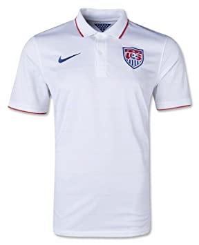 Nike USA Camiseta 2014 para hombre blanco de fútbol Fan camiseta Top Team EE. UU