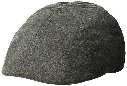 Ivy Newsboy Hat (Levi's Men's Canvas Ivy Hat, Black, Small/Medium)