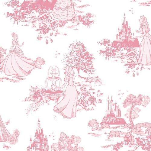 Pink Toile Wallpaper - GRAHAM & BROWN DISNEY PRINCESS TOILE PINK CHILDRENS KIDS GIRLS WALLPAPER 70-233 by Graham & Brown