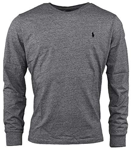 (Polo Ralph Lauren Men Long Sleeve Pony Logo T-Shirt (XX-Large, Gunmetal Heather) )