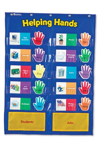 5 Pack LEARNING RESOURCES POCKET CHART HELPING HANDS by Learning Resources