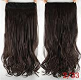 french twist hair accesory - dolly2u 60cm Synthetic Clip In Hair Extension Heat Resistant Hairpiece Natural Curly Wavy Hair Extensions#8