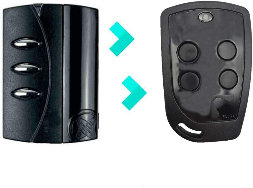PUJOL VARIO 4U Compatible PUJOL VARIO BLACK Frecuencia 433MHz Nuevo Mando Garaje Negro 4 Botones Más Resistente Y Robusto