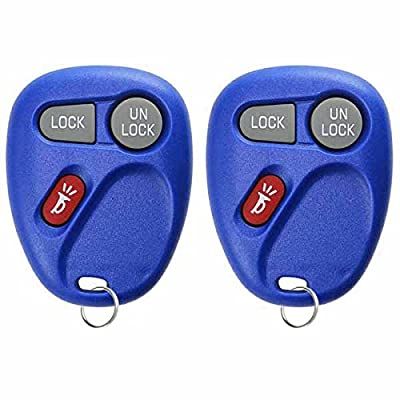2 KeylessOption Replacement 3 Button Keyless Entry Remote Control Key Fob -Blue: Automotive