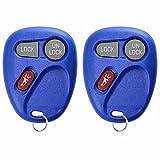 2 KeylessOption Replacement 3 Button Keyless Entry Remote Control Key Fob -Blue