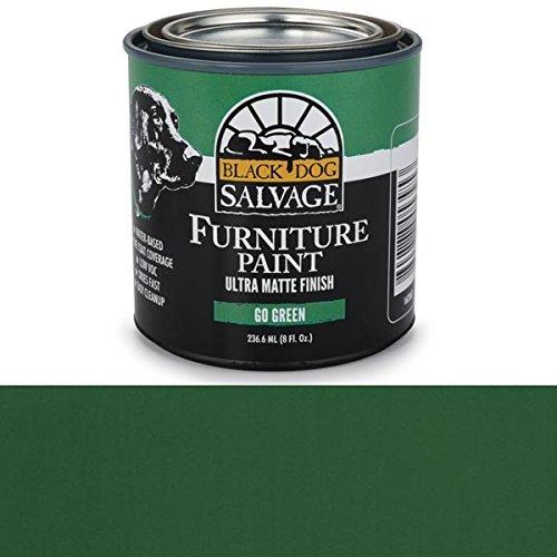 (Black Dog Salvage 'Go Green' - Green Furniture Paint, 1/2 Pint)