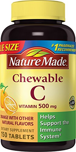 Nature Made - Chewable Vitamin C 500 mg, 150 Tabs, #1717