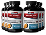 Paba supplement – Anti Gray Hair – Gray hair rescind with catalase (6 Bottles – 360 Capsules) Review