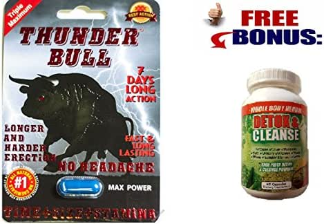 Thunder Bull Triple Maximum Male Enhancement Sexual Pill! Long Lasting!-6 Pills!