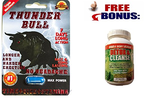- Thunder Bull Triple Maximum Male Enhancement Sexual Pill! Long Lasting!-6 Pills!