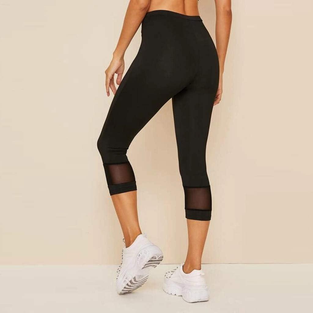 VERMSS Pantaloni Yoga Leggins Donna Sport Moda Pantaloni Allenamento Palestra Athletic Fitness Esercizio Leggings Atletico Pilates Loose Fit Jogging Sportivi Fitness Leggings 00A30