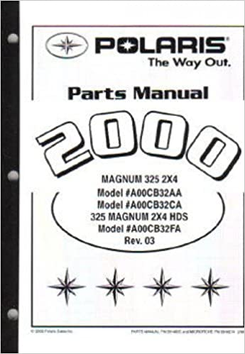 9914935 2000 polaris magnum 325 2x4 atv parts manual: manufacturer:  amazon com: books