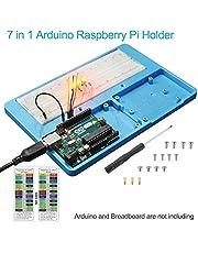 UNIROI 7 in 1 RAB Holder Breadboard,Base Plate Case for Arduino UnoR3 Mega 2560, Raspberry Pi 3 Model B, 2 Model B,1 Model B+ RPI Zero W and Zero UA031 (Holder for Arduino Raspberry Pi)