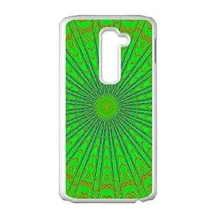 Artistic green fractal fashion phone case for LG G2