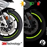 VFLUO GP DESIGN, motorbike retro reflective wheel