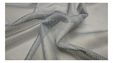 Fabrics-City grigio rete classica foro Filet rete Tessuto Wabe 1,5 ...