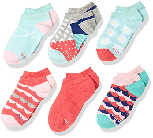 Stride Rite Baby 6 Pack Girls No Show Socks, Daisies - Assorted Colors, 5-6.5 / Shoe: ()