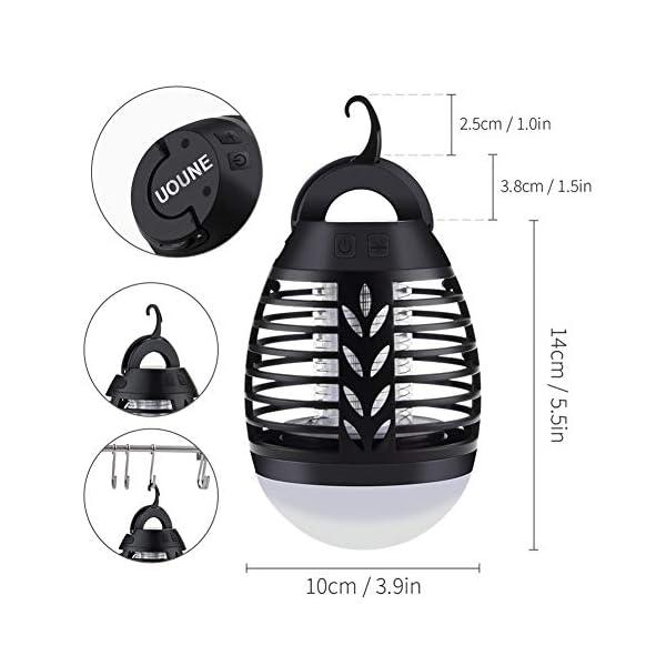2 in 1 Lampada Anti Zanzara, USB Repellente per zanzare Lampada con lampada da Campeggio,Impermeabile IP67,3 Luminosità… 2 spesavip