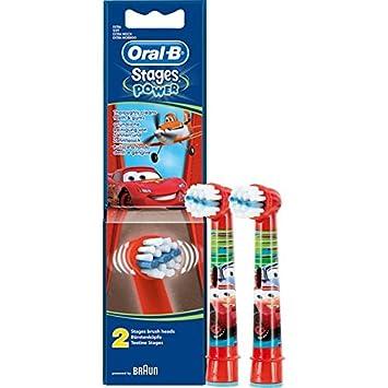 Braun Oral-B cabezales Stages Power Kids Cars Pack de 2 cabezas de cepillo Niños EB10 - 2 K: Amazon.es: Salud y cuidado personal