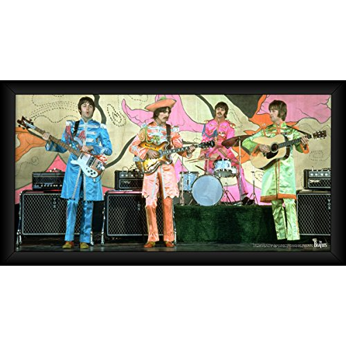 Steiner Sports The Beatles 1967 SGT. Pepper Lonely Hearts Costumes 10 inch x 20 inch Framed Photo -