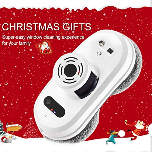 FENGRUI R-C901 Smart Window Cleaner Robot Automatic Infrared Remote Magnetic Cleaner For Inside And Outdoor High Floor Window Bathroom Kitchen Wall Glass Ceramic Tile (White) by FENGRUI (Image #1)