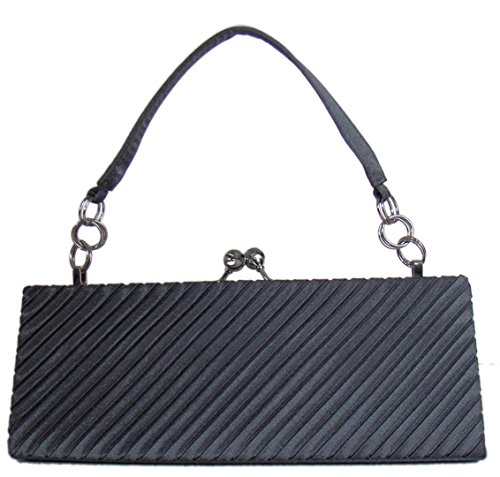 Damen Handtasche Clutch-Abendtasche Grau,22x 9 cm Dunkelgrau