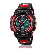 Kids Sports Digital Watch, Boys Girls Outdoor Waterproof Watches Children Analog Quartz Wristwatch