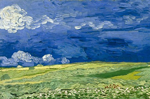 Vincent Van Gogh Wheatfield Under Thunderclouds Cool Wall Decor Art Print Poster 36x24