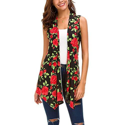 Top Layered Shirt Shrug - Women Sleeveless Draped Open Front Solid Color Vest Asymmetric Hem Women Blouse
