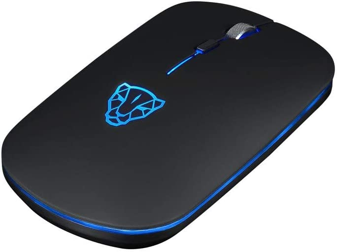 Vacally Smart Low Power Wireless Bluetooth Gaming Mouse Leopard 6 Button 2400DPI Optical Ultra Light Gaming Mouse