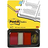 "Post-it Flags, 1"" x 1.7"", Red, 1 Dispenser/Pack"