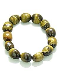 Amulet Tumbled Tiger Eye Crystals Evil Eye Protection Gemstone Bracelet