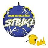 Airhead Strike 2 Single Rider Inflatable Towable Tube + 12V Portable Air Pump