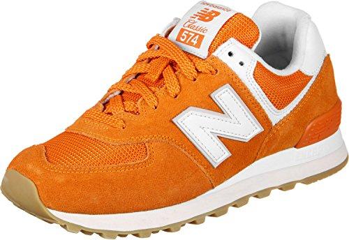 New Balance Mujeres 574v2 Sneaker Varsity Naranja / Nublado
