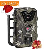 ECOOPRO Trail Camera 12MP 1080P HD Game Hunting Camera 65ft Infrared Night Vision,90°Detection Angle,24pcs 940nm IR LEDs,2.4\