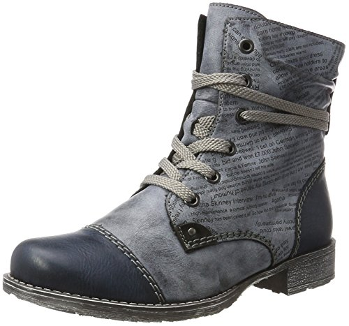 Rieker 70822 Damen Halbschaft Stiefel Blau (Navy/Ozean/Schwarz)