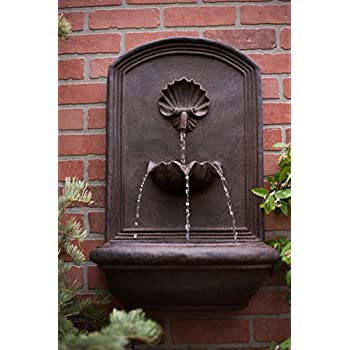 The napoli outdoor wall fountain - Wall mounted water feature ...