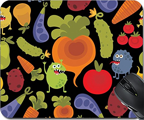 Price comparison product image MSD Natural Rubber Mousepad Mouse Pads/Mat design: 14753473 Vegetables and fruits with microbes seamless background