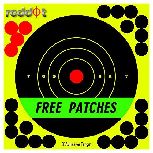 Reddot Shooting Targets - 8 inch Splatter Adhesive Reactive