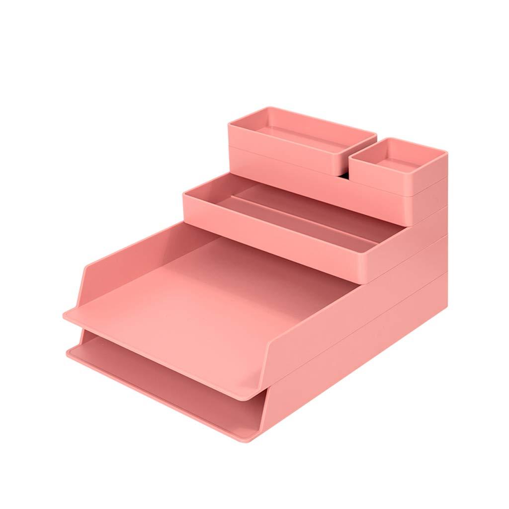 LCSHAN Desktop File Cabinet Fashion Resin Drawer Data File Desktop Storage Box