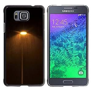 Be Good Phone Accessory // Dura Cáscara cubierta Protectora Caso Carcasa Funda de Protección para Samsung GALAXY ALPHA G850 // Dark Night Lights Street Yellow Warm