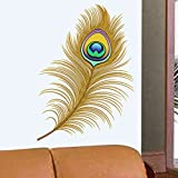 Decals Design 'Oh Dreamy Peacock Feather' Wall Sticker (PVC Vinyl, 50 cm x 70 cm)