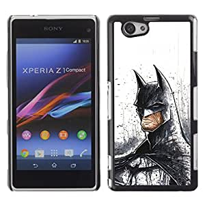 Design for Girls Plastic Cover Case FOR Xperia Z1 Compact D5503 Serious Bat Superhero OBBA