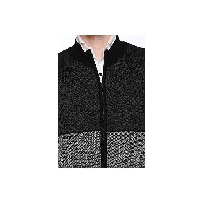 513loEvF93L. SS768  - aarbee Sleeveless Zipper Sweater for Men