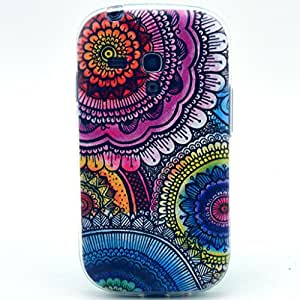 PowerQ Colorful TPU Pattern Series for Samsung Galaxy I8190 8190 S3mini mini Case Bag Pattern Print Printing Drawing Cell Phone Case mobile Cover Soft Protect Skin (325-10)