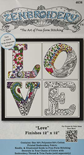 Design Works/Zenbroidery Stamped Embroidery 30cm x 30cm
